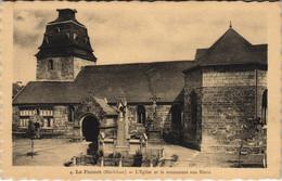 CPA LE FAOUET Eglise Et Mon. Aux Morts (144766) - Le Faouet