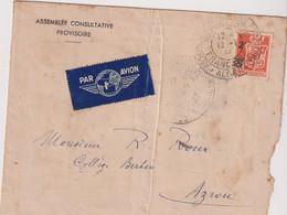 ALGERIE-Guerre 40-C à D.assemblée Consultative Provisoire ALGER République Française - Poste Aérienne