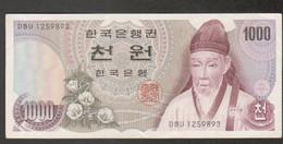 Coree, Korea, Billet De 1000 Won - Korea, South