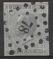 OBP17 Ongetand Met Puntstempel L78 - 1865-1866 Profiel Links