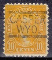 USA Precancel Vorausentwertung Preo, Locals Wyoming, Caspar 642-547 - Voorafgestempeld