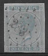 OBP18 Ongetand Met Puntstempel L283 Ostende - 1865-1866 Profiel Links