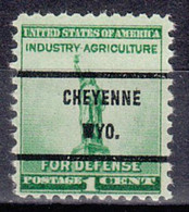 USA Precancel Vorausentwertung Preo, Bureau Wyoming, Cheyenne 899-71 - Voorafgestempeld