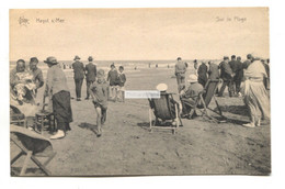 Heyst Sur Mer - Sur La Plage - Old Belgium Postcard - Heist
