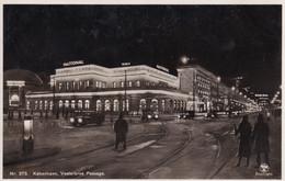 Kobenhavn Passage At Night Cabaret Theatre Centre Denmark National Scala Postcard - Denemarken