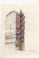 Gaisburgstrasse Stuttgart German Sketch Painting Postcard - Zonder Classificatie