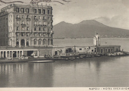 Hotel  Excelsior Napoli 1938 Antique Postcard - Zonder Classificatie