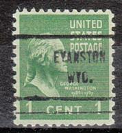 USA Precancel Vorausentwertung Preo, Locals Wyoming, Evanston 713 - Voorafgestempeld