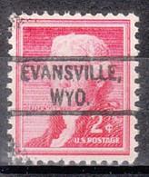 USA Precancel Vorausentwertung Preo, Locals Wyoming, Evansville 804 - Voorafgestempeld