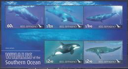 Ross-Gebiet Antarktis Antarctia 2010 Tiere Fauna Animals Wale Whales Pottwal Schwertwal Buckelwal Seiwal, Bl. 4 ** - Sin Clasificación