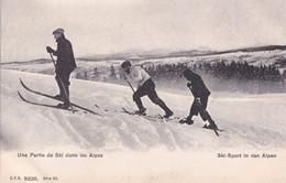 Une Partie De Ski Dans Les Alpes Sport Switzerland Postcard - Zonder Classificatie