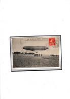 CACHET SPECIAL AVIATION MILITAIRE VILLERS NANEY 1913 SUR CPA DIRIGEABLE LIBERTE - Aeronaves