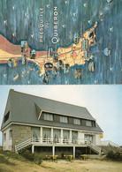 Saint Pierre Quiberon Presquille Hotel Rare French Map 2x Postcard - Zonder Classificatie
