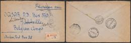 L. Non Affranchie En Recommandé De Moscou (1947) > Jadotville Suivi Libonduo? (Congo Belge). - Briefe U. Dokumente
