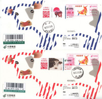 China 2021 Happy New  Year Of The Ox Postal Cards With ATM Label Stamps  2v - Postkaarten