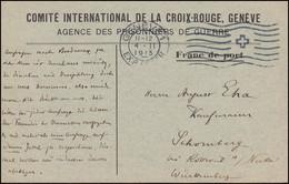 Kriegsgefangenpost Internationales Rotes Kreuz GENF 4.2.15 Nach Deutschland - Covers