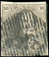 N°1 - Epaulette 10 Centimes Brune, Belle Obl. D.56WALCOURTcentrale Et Droite. -TB-17296 - 1849 Epaulettes