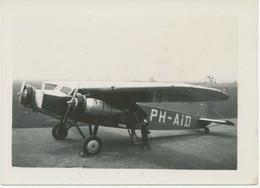 "AVIATION NETHERLANDS, Superb Small RP (8,8x6,4mm – No Postcard) 1932, FOKKER FX11 ""Duif"" KLM - Aviación"