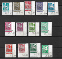 France Préoblitérés N° 106  à 118    Neufs  (   *  ) Coins Datés B  / TB  Voir Scans      Soldé    ! ! ! - 1953-1960