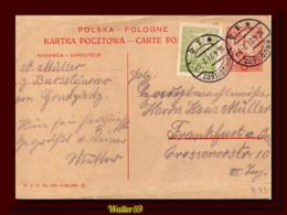 1927 Poland Polen Polska Stationery Card Posted Grudziadz To Germany Ganzsache Kartka Pocztowa - Briefe U. Dokumente