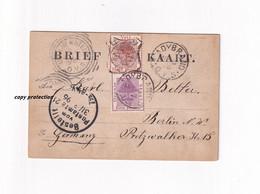 Brief Kaart Vrij Staat Oranje Een Penny, Half Penny, Ladybrand 1896, Vrijstaat Oranje, South Africa, Ca. 11,5 X 7,5 Cm - Africa (Varia)