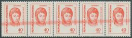 ARGENTINIEN 1977 40P General José De San Martin Postfr Pra.5-er-Streifen ABARTEN - Neufs
