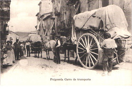 ES PUIGCERDA - Carro De Transport - Dilligence Attleage En Gros Plan - Animée - Belle - Gerona