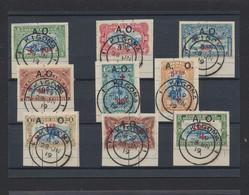 "Ruanda-Urundi - Croix Rouge : Série Complète Sur Fragment Obl Double Cercle ""Kigoma"" (1919). Superbe - 1916-22: Used"