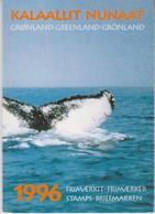 1996 Greenland ** (Sans Charn,MNH, Postfris) YEAR PACK   Yv. 262/277 BF11 Mi. 283/298  Block 11 (16v. + Block) - Komplette Jahrgänge
