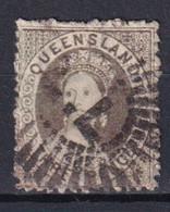 AUSTRALIE / QUEENSLAND - YVERT N°9 OBLITERE - FILIGRANE ETOILE RAYON ETROIT - COTE = 40 EUR. - Gebraucht