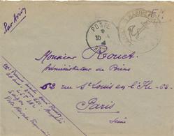 Indochine Saigon - Marine Française - Post Aux Armée 30-9-4? Lettre Du LST382 La Paillotte - Atelier - Vers Paris - Cartas
