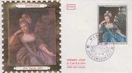 Enveloppe  FDC  1er  Jour  MONACO   Catherine  De   BRIGNOLE - SALE   1975 - FDC