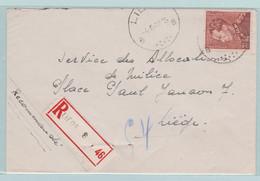 Poortman Zegels, Koning Leopold , Recommandé  Uit Liège, Luik 1942 - Sobres