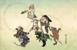 ILLUSTRATION CHAT ET RAT HUMANISE - Altri