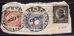 ITALIA REGNO ITALY SEGNATASSE POSTAGE DUE TASSE 20c + 1 LIRA On USA STATI UNITI 1923 PRESIDENT HARDING 2c USED USATO - Portomarken