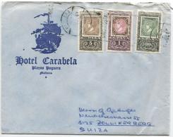 1967 Ed 1689-91 Serie Completa En Carta De Paguera (Mallorca) A Suiza - 1961-70 Cartas