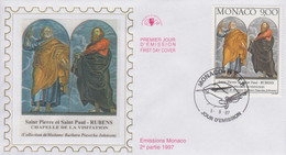 Enveloppe  FDC   1er  Jour  MONACO    Oeuvre  De   RUBENS     1997 - FDC