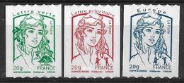 France 2013 Autocollants - Yvert Nr. 862/864 - Michel Nr. 5608 Iy C/5610 Iy C ** - KlebeBriefmarken