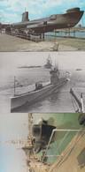 HMS Alliance Ship At Fort Blockhouse Royal Navy Submarine Museum 3x Postcard S - Oorlog