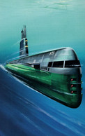 1960s Nuclear Powered Submarine Ladybird Book Painting Postcard - Zonder Classificatie