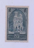 FRANCE - 1929 - Cathédrale De Reims - N° YT 259b Type III - Neuf ** Signé R Calves - Cote 800E - Ungebraucht