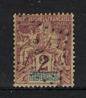 Guadeloupe - Yvert 28 Oblitéré LOSANGE DE POINTS  GPE - Scott#28 - Used Stamps