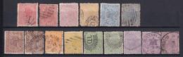 AUSTRALIE / QUEENSLAND - 1883 - YVERT N°51/56 AVEC DIVERSES NUANCES ! - Gebraucht