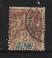 Guadeloupe - Yvert 28 Oblitéré LIBREVILLE - Scott#28 - Used Stamps