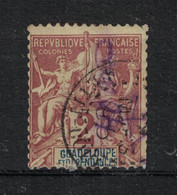 Guadeloupe - Yvert 28 Oblitéré PETIT-BOURG - Scott#28 - Used Stamps