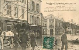 SENS INONDATION DE JANVIER 1910 AVENUE VAUBAN - Sens
