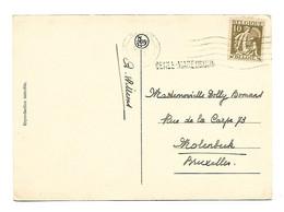Griffe  - Naamstempel  DEREE-MAREDSOUS 1935  10 CT  Namur/Brux. - 1932 Cérès Et Mercure