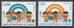 UN Geneva 1979 Mi# 83-84** INTERNATIONAL YEAR OF THE CHILD - Nuevos