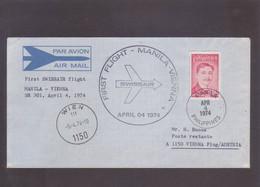 First Flight SWISSAIR  Manila - Vienna 1974 - Philippines