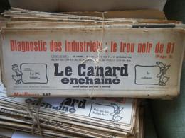 Le Canard Enchaîné - Année 1980 Complète (en Principe) - Política